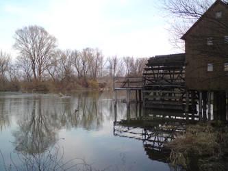 Watermill at River Maly Dunaj