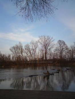 River Maly Dunaj in Jelka