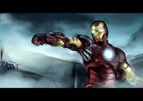 Speedpaint: Iron Man by E-tane