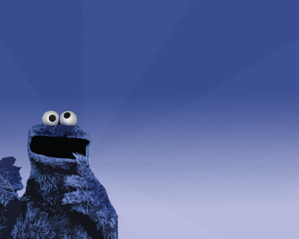 Cookie Monster Wallpaper by elmhoe