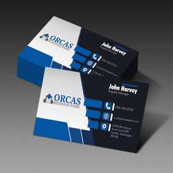 Orcas Business card. Seattle, Washington
