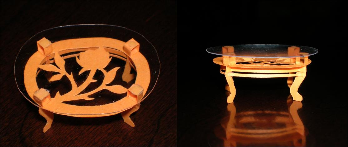 Orange Table by SkulkingYegg