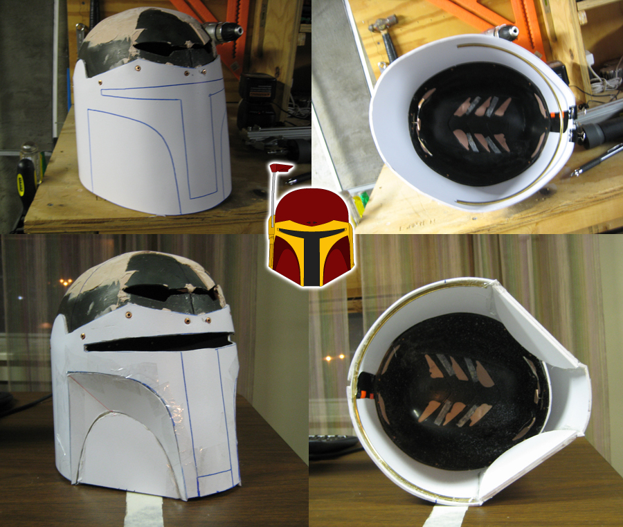 Mandalorian Helmet Progress by Verdaera
