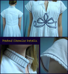 Padme Pleated Chemise Details by Verdaera