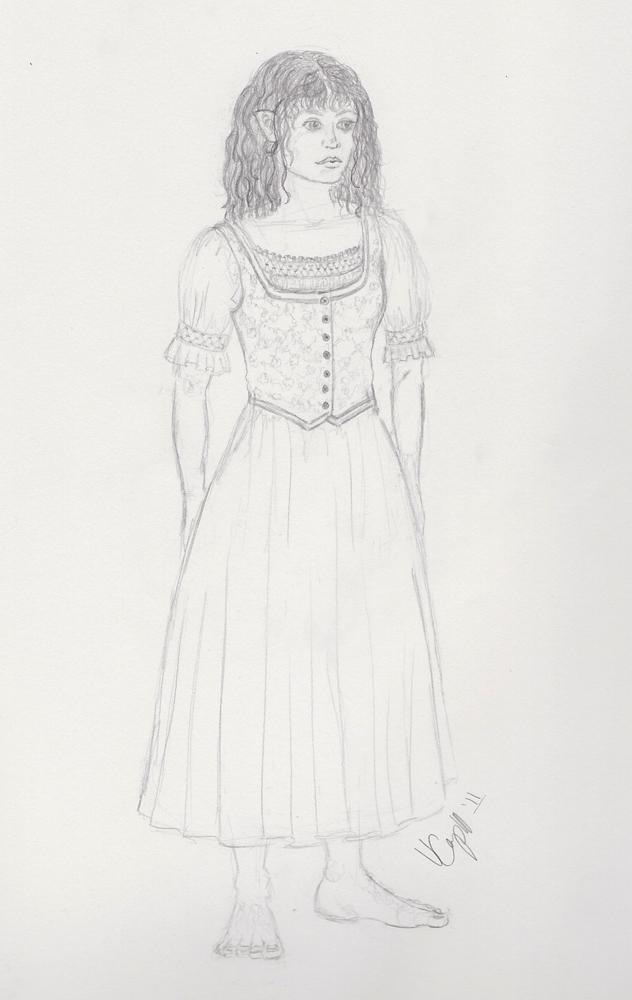 Hobbit Design Sketch BW by Verdaera