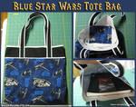 Blue Star Wars Tote Bag