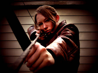 Katniss Hunting Poster Costume Preview by Verdaera