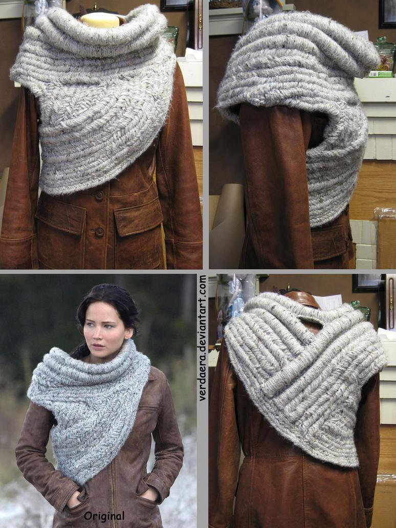 Katniss Everdeen Cowl Knitting Pattern : Katniss Woven Cowl from Catching Fire by Verdaera on DeviantArt