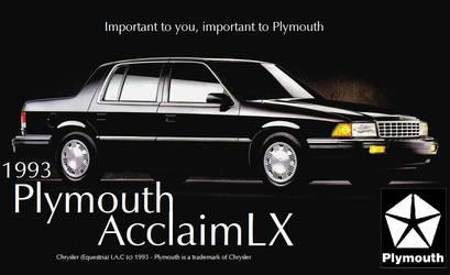 Fake Plymouth Acclaim Advert