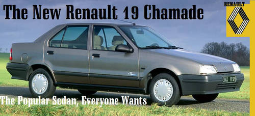 Fictitious Renault 19 Advert