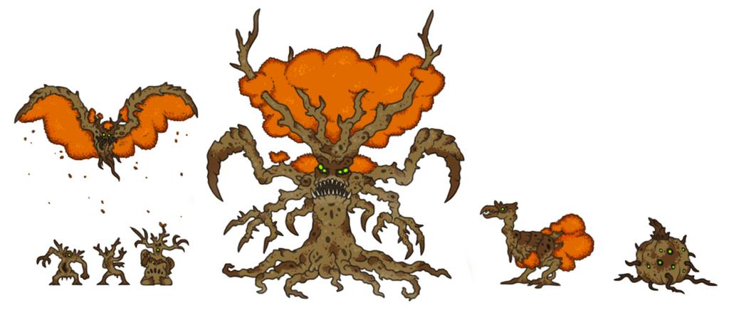 Uddobero (Fall Form) + Spawn by KaijuX