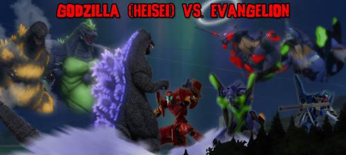 Former Banners - Godzilla (Heisei) vs. Evangelion by KaijuX
