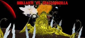 KWC - Biollante vs. SpaceGodzilla by KaijuX
