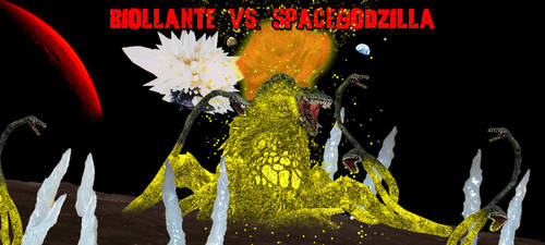 KWC - Biollante vs. SpaceGodzilla by KaijuX