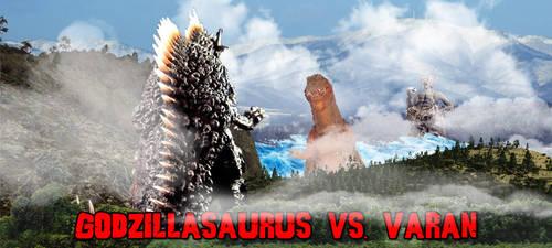 KWC - Godzillasaurus vs. Varan by KaijuX