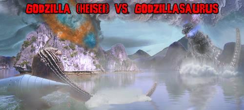 KWC - Godzilla (H) vs. Godzillasaurus by KaijuX