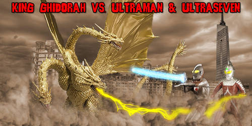 KWC - King Ghidorah (H) vs. Ultraman and Seven