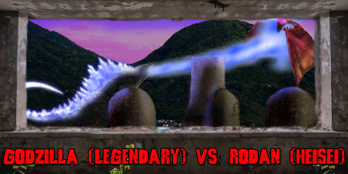 KWC - Godzilla (Legendary) vs. Rodan (Heisei)