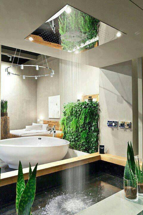 rain shower bathroom design