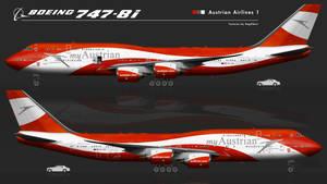 Boeing 747-8i AUA, grey