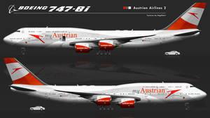 Boeing 747-8i AUA, red