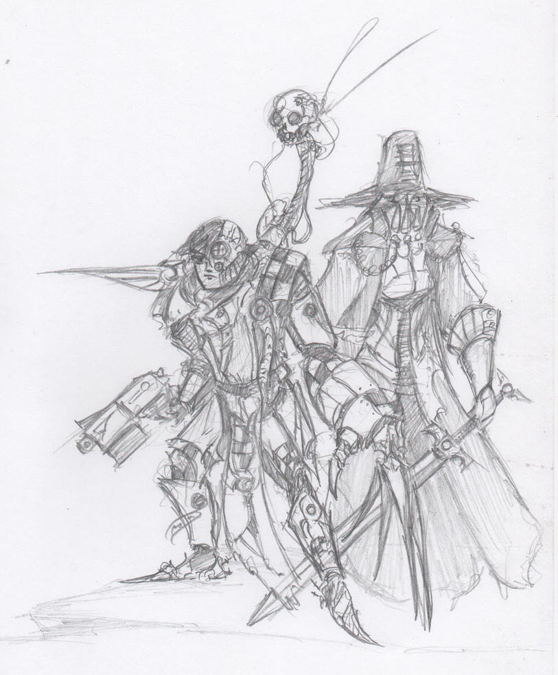 40k - Inquisitor and Battle-Priest by HJTHX1138