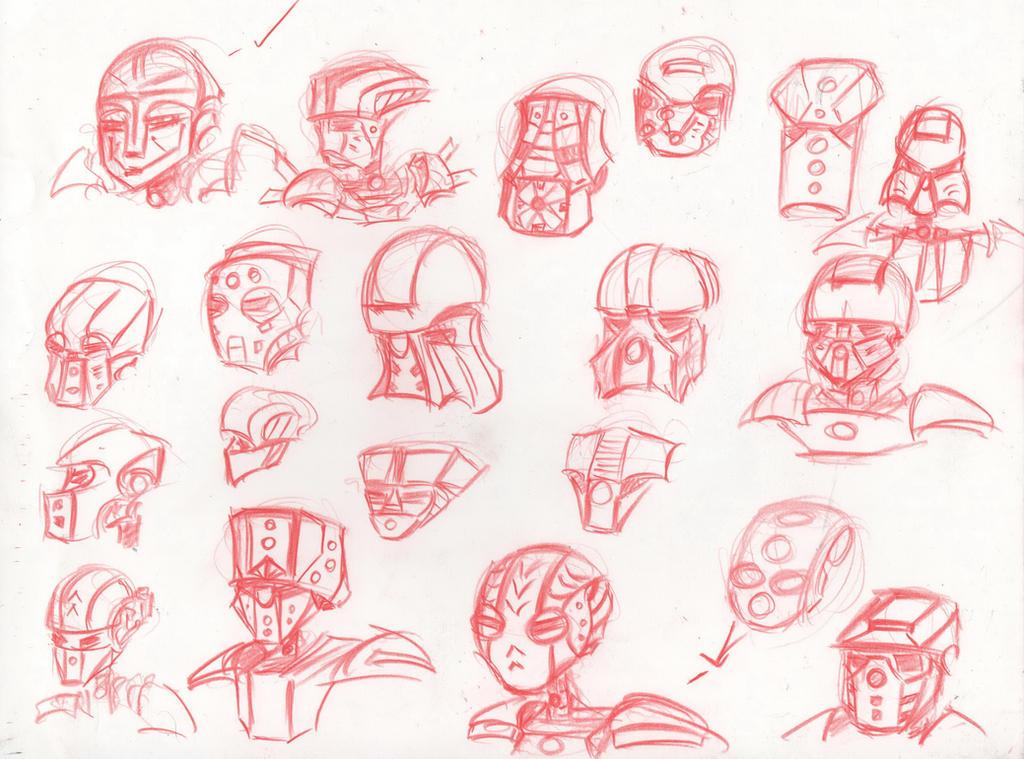 Bionicle - Moar Masks by HJTHX1138