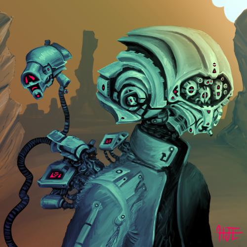 Cybernaut - Portrait by HJTHX1138