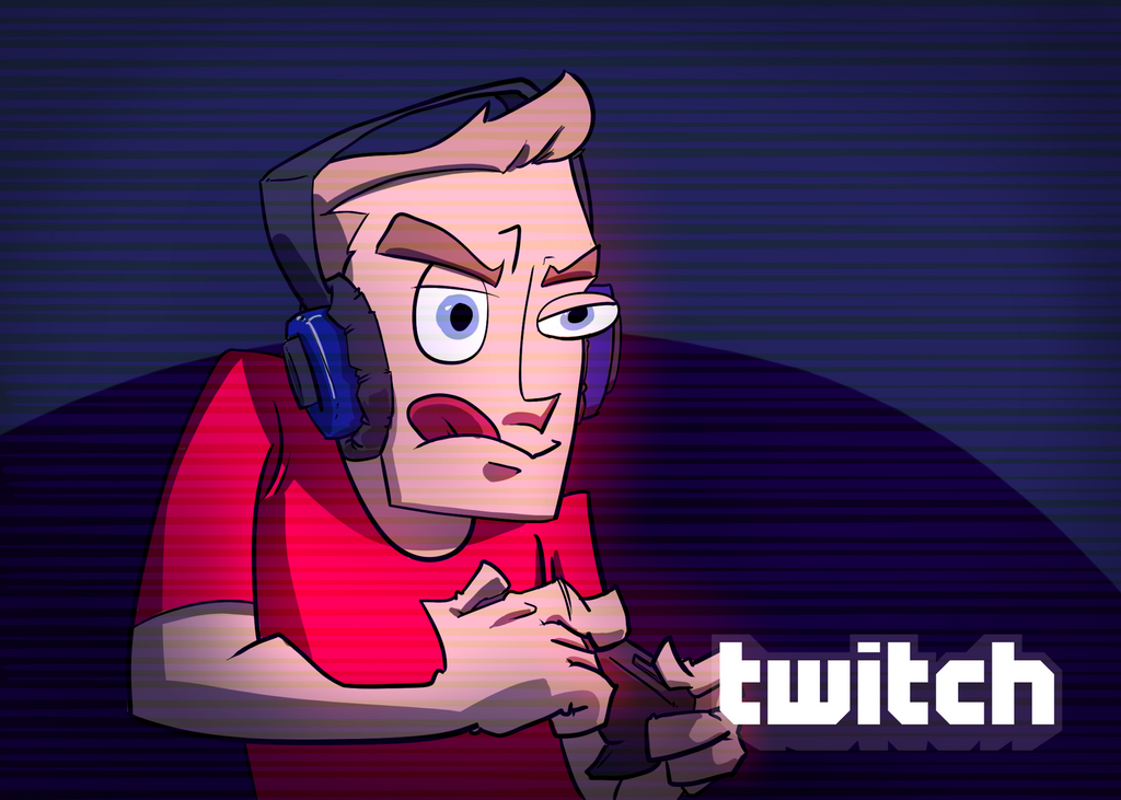 Twitch Player -  Fiverr Commission by etchant