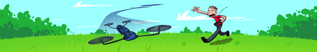 Man and Drone - Fiverr Commission by etchant
