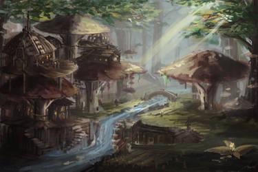 Mushroom Village by JasonTN