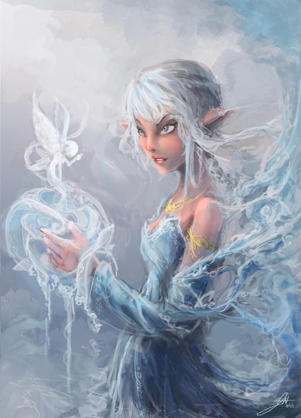 Galeria de Arte: Ficção & Fantasia 1 - Página 4 Gentle_water_spirit_by_nosaj7541-d6g40m1