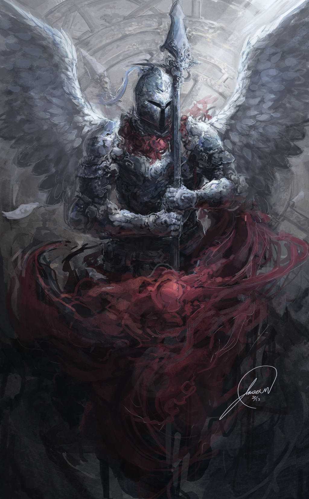 Galeria de Arte: Ficção & Fantasia 1 - Página 4 Angel_of_time_by_nosaj7541-d6ke50w