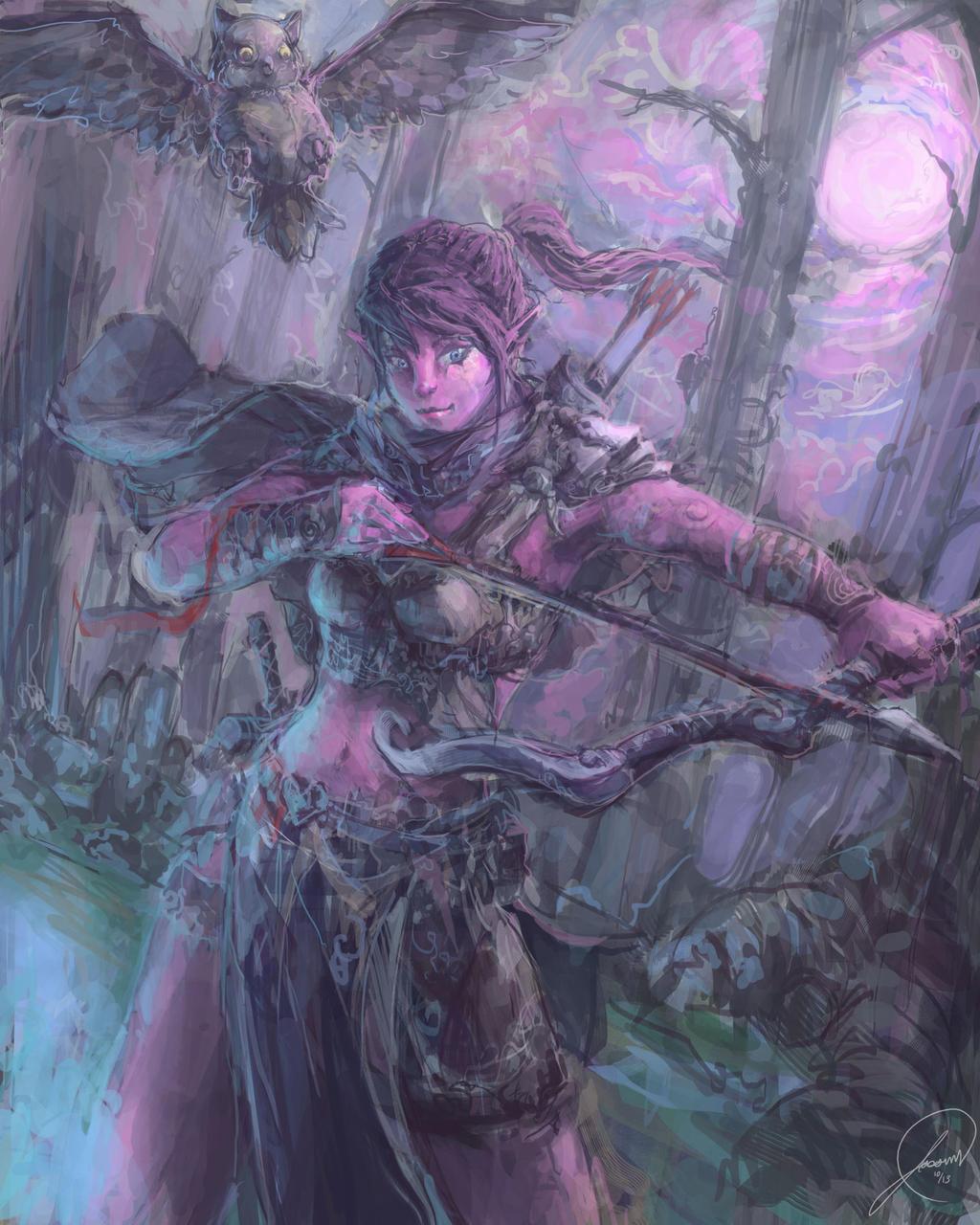 Galeria de Arte: Ficção & Fantasia 1 - Página 4 Night_elf_by_nosaj7541-d6pvznr