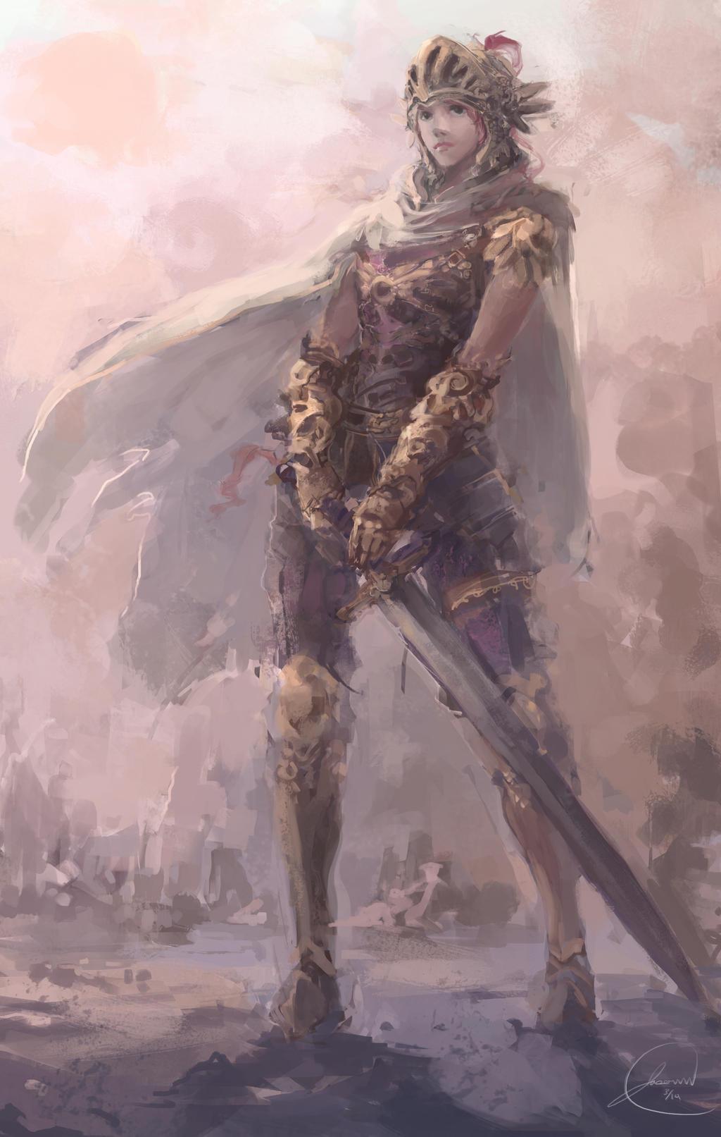 Galeria de Arte: Ficção & Fantasia 1 - Página 4 Desert_knight_by_nosaj7541-d7ce9r7