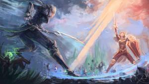 Diana vs. Leona by JasonTN