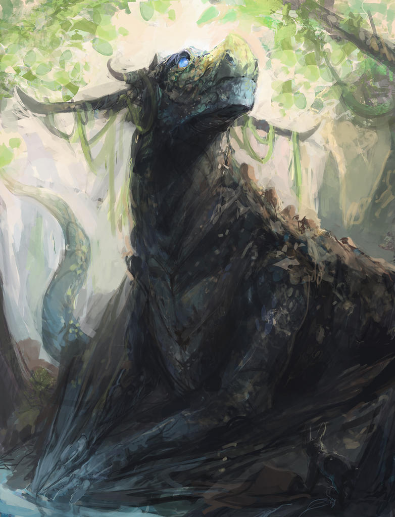 Ancient Forest Dragon by JasonTN