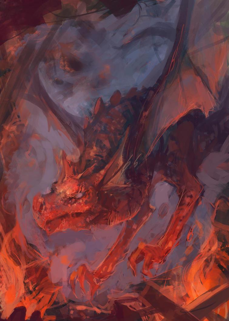 Fire Wyvern by JasonTN