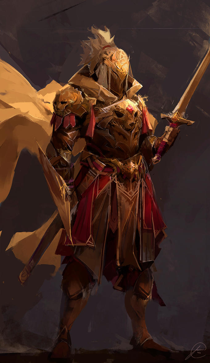 Golden Knight by JasonTN