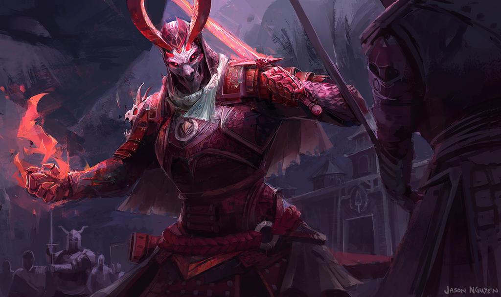 demon samurai by jasontn on deviantart