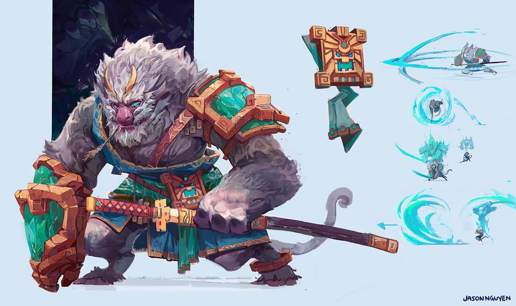 Monkey Warrior by JasonTN