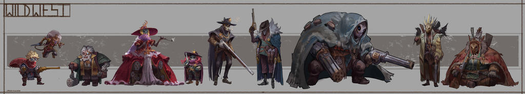WIld West Character Line up