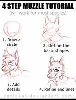 4 Step Muzzle Tutorial- Zavlekat by Zavlekat