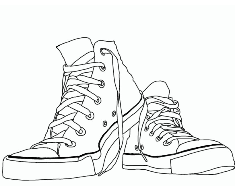 Converse shoe drawing design
