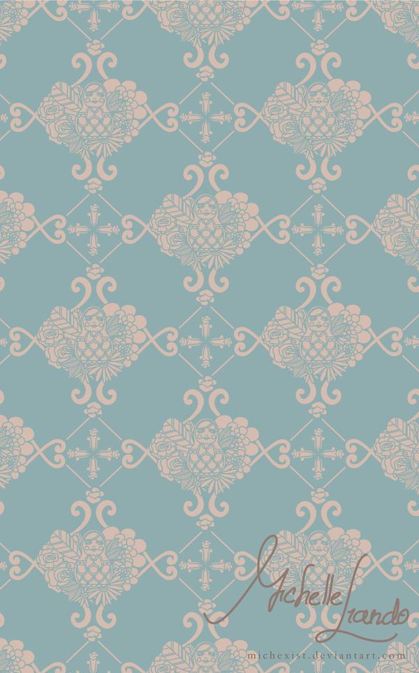 Matryoshka Vintage Pattern by michexist