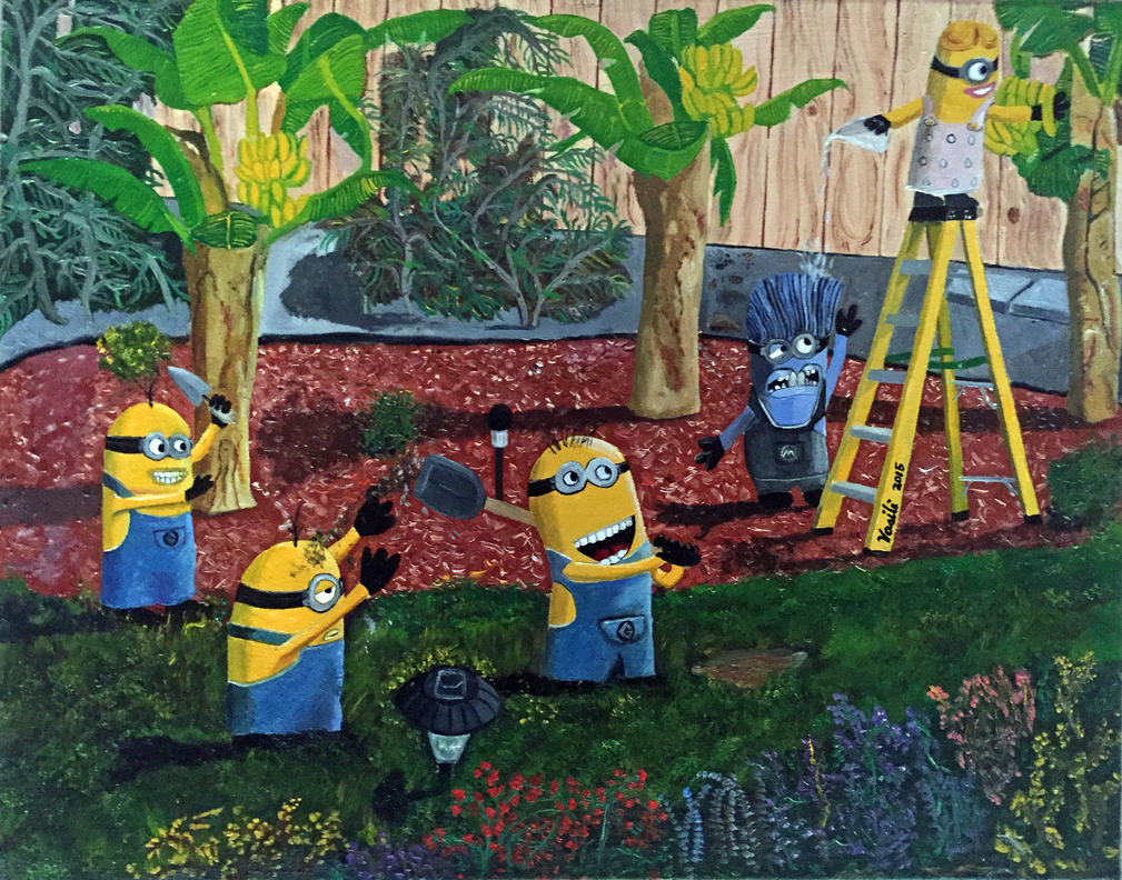 Minions in the Garden by VasiliZ
