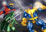 Thanos vs. Cosmic Heroes