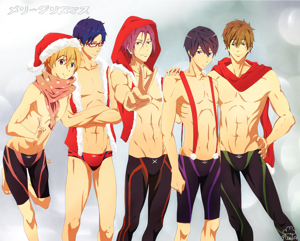 Christmas Swimming Boys by Daniimon on DeviantArt