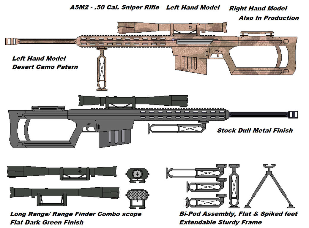 A5m2 50 Cal Sniper Rifle By Onni Hitsok On Deviantart