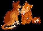 Firebounce and Firestar by meow286